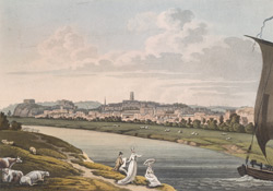 A south-east view of Nottingham from the River Trent